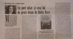 """Cronică de Luminița Corneanu în """"România literară"""" nr. 45/2014"""