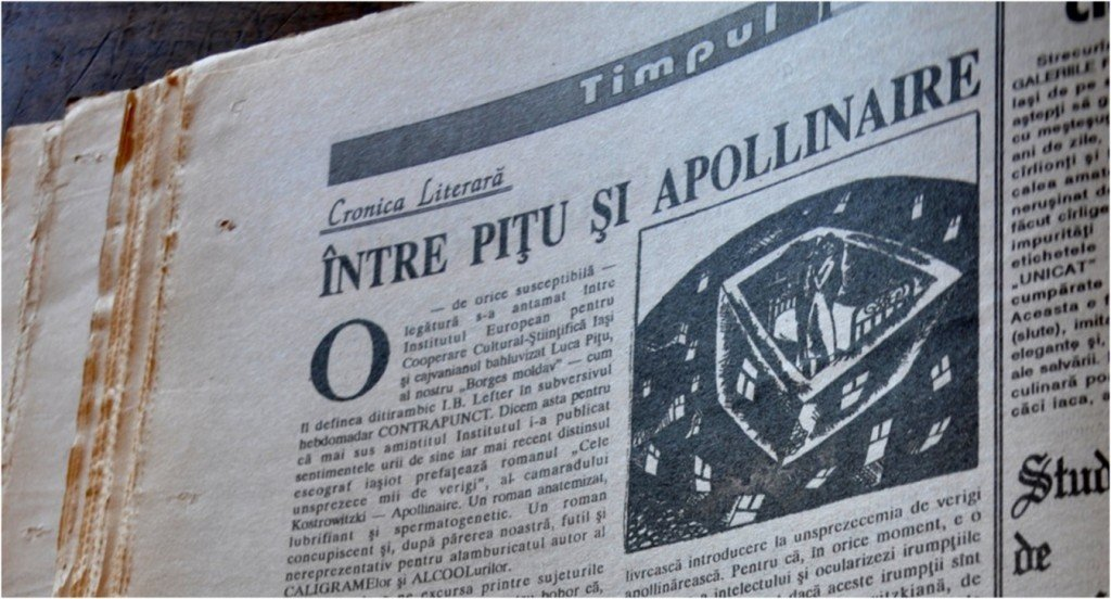 """Cronică apărută în revista """"Timpul"""", anul III (CXVI), Nr. 21 (97), iunie 1992, Iași"""