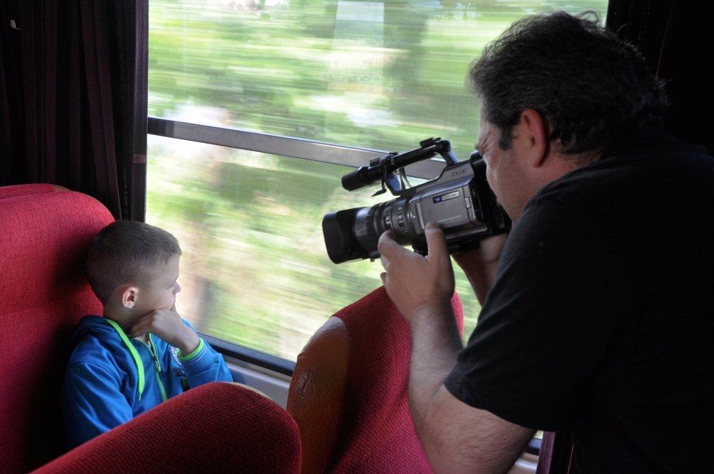 teo popescu filmare tren